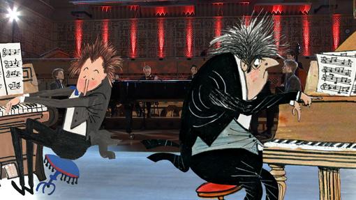 Animatie Carnaval der Dieren Pianisten